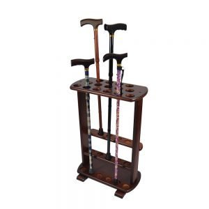 Wooden walking stick stand