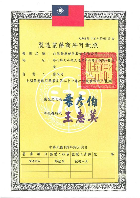 Pharmacist manufacturing license
