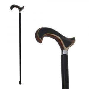 Sheesham and water buffalo horn walking stick