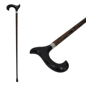 Wonderful rubber wood handle walking stick